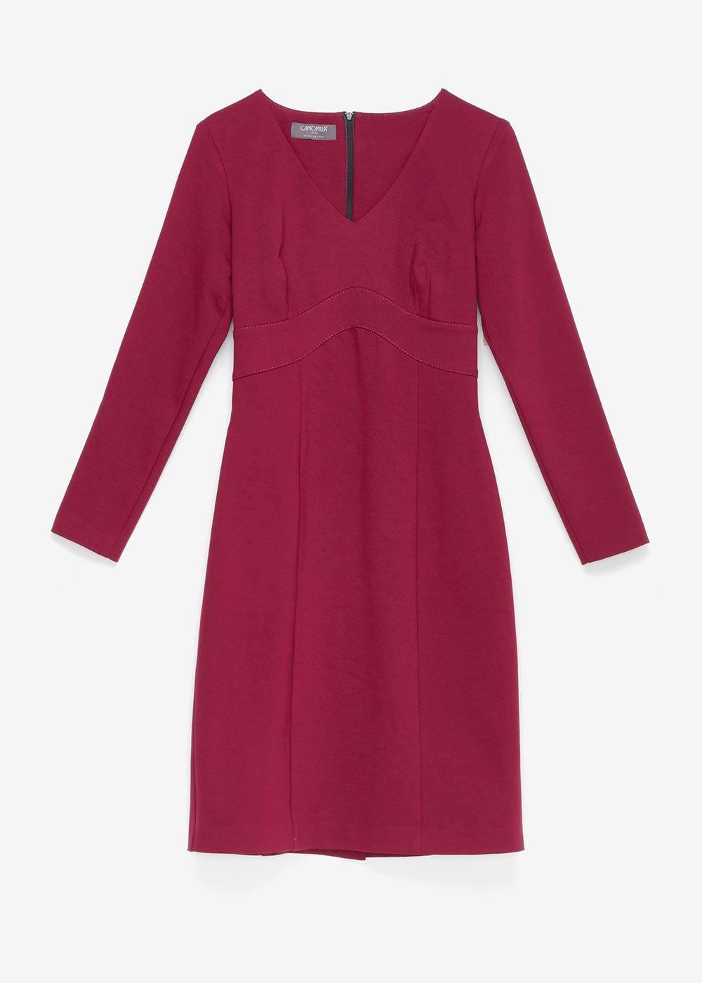 Kate dress in milano stitch - Purple - Woman