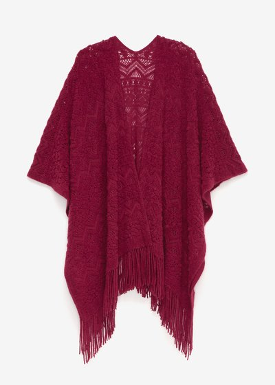 Marie cape with fringes
