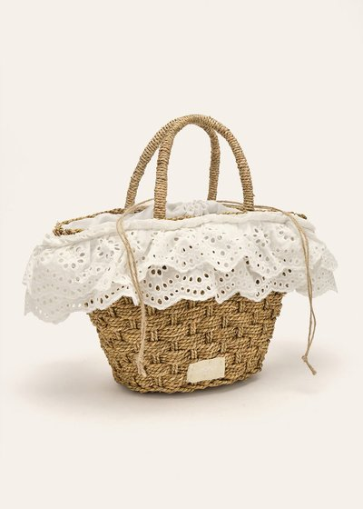Bernie bag with broderie anglaise details