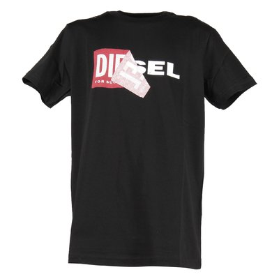 Diesel black teen boy cotton jersey t-shirt