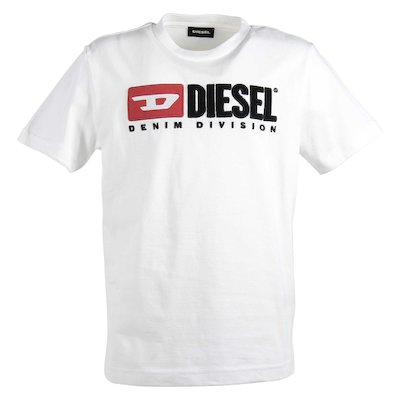 White 90s logo cotton jersey t-shirt