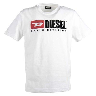 T-shirt bianca in jersey di cotone con logo anni '90