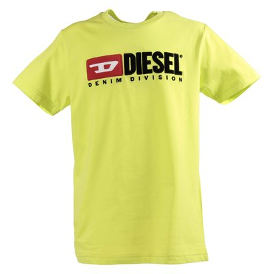 Acid green logo cotton jersey t-shirt