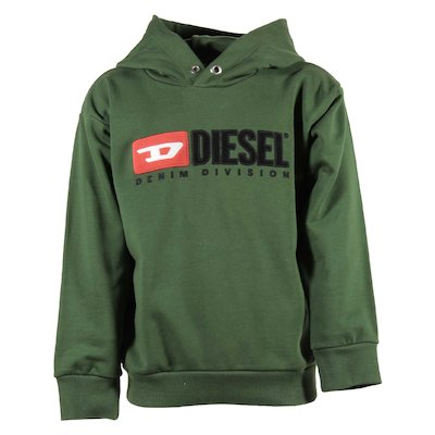 Green cotton sweatshirt hoodie