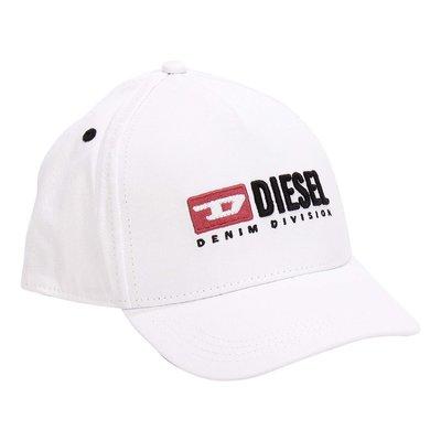 White logo detail cotton canvas baseball cap