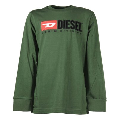 Green logo detail cotton jersey t-shirt
