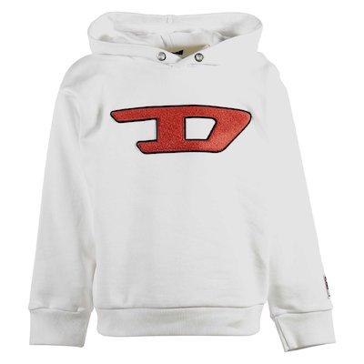 White cotton sweatshirt hoodie