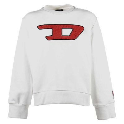 White logo detail cotton sweatshirt