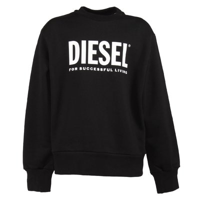 Black logo detail cotton sweatshirt