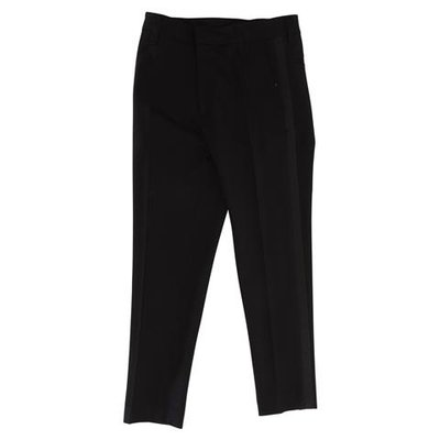 Black techno fabric elegant pants