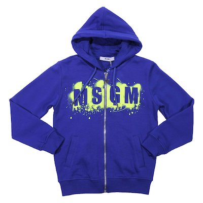 Royal blue cotton sweatshirt hoodie