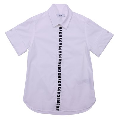 Camicia bianca in popeline di cotone