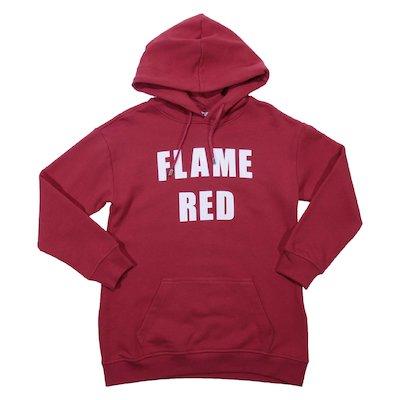 Felpa rossa in cotone con cappuccio