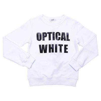 Felpa bianca in cotone