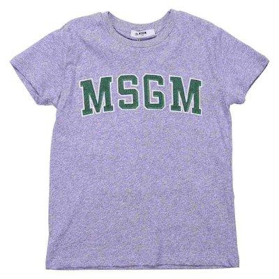 T-shirt grigio melange in jersey di cotone