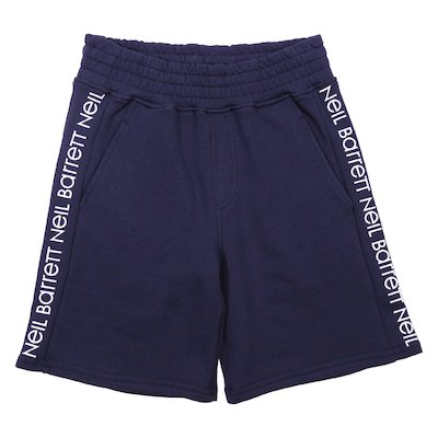 Navy blue cotton sweatshorts