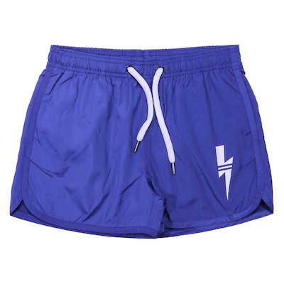 Blue nylon swimsuit