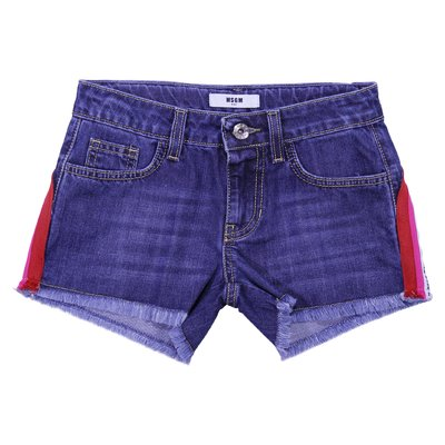 Denim cotton shorts