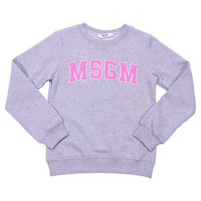 Marled grey cotton sweatshirt