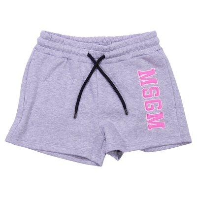 Marled grey cotton shorts