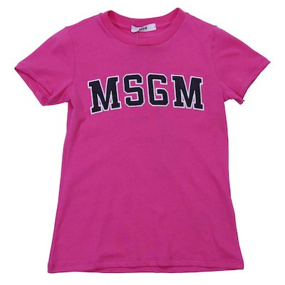 Fuchsia cotton jersey t-shirt
