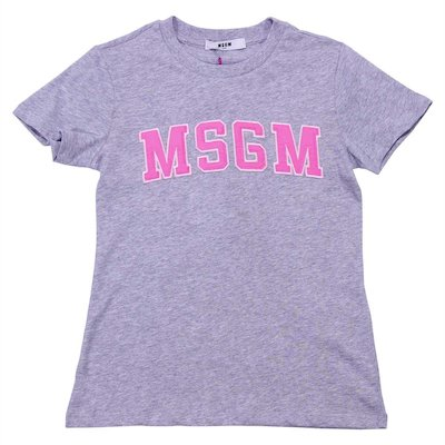 Grey cotton jersey t-shirt