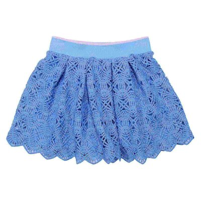 Turquoise broderie anglaise skirt