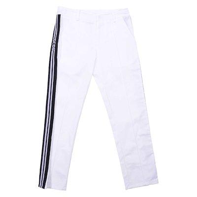 White cotton gabardine pants