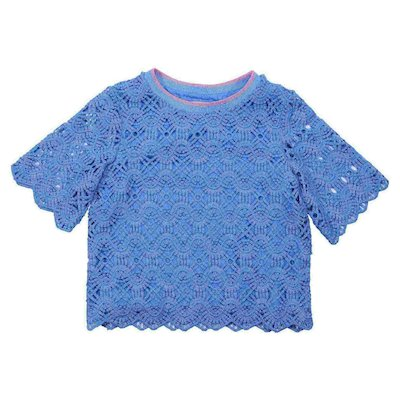 Turquoise broderie anglaise top