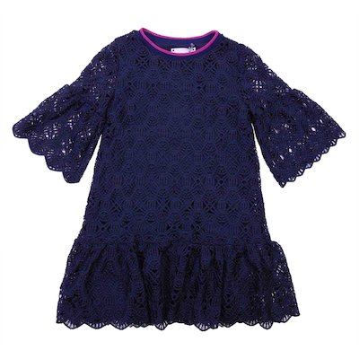 Blue broderie anglaise dress