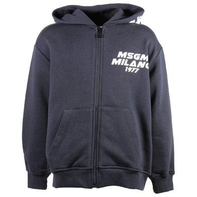 Navy blue vintage logo cotton sweatshirt hoodie