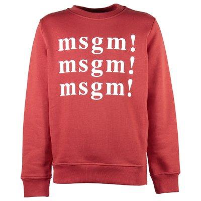Red multi logo cotton sweatshirt
