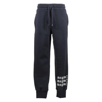 Navy blue logo cotton sweatpants