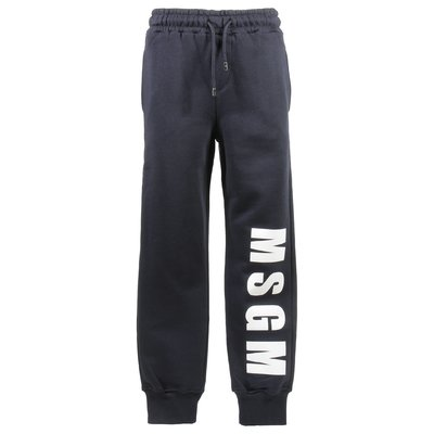 Navy blue logo cotton sweatpants