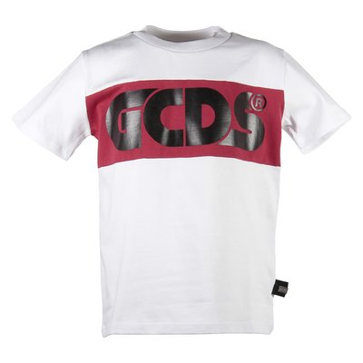 White logo jersey cotton t-shirt
