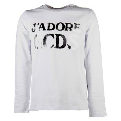 j'adore GCDS white cotton jersey t-shirt