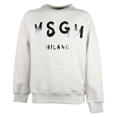 Marled grey painted logo cotton sweatshirt