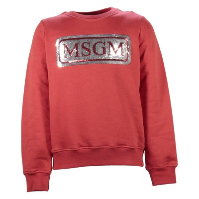 Red logo cotton sweatshirt