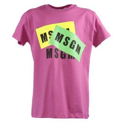 Fuchsia logo cotton jersey t-shirt