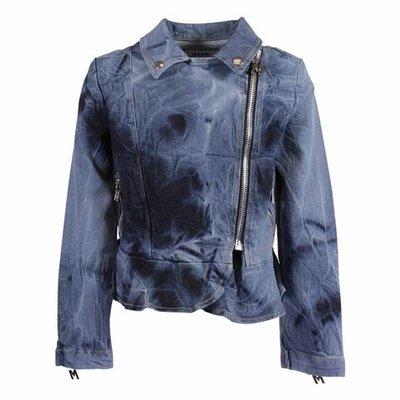 Vintage effect stretch cotton denim jacket