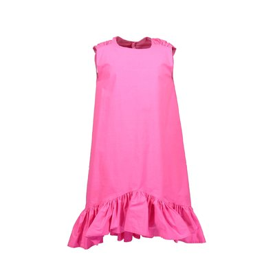 Fuchsia cotton poplin dress