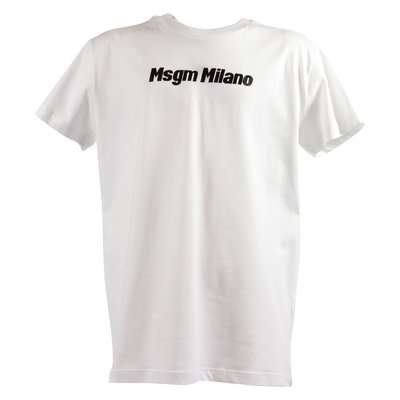 MSGM white cotton jersey MSGM Milano t-shirt