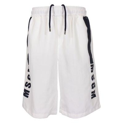 White crepe nylon shorts