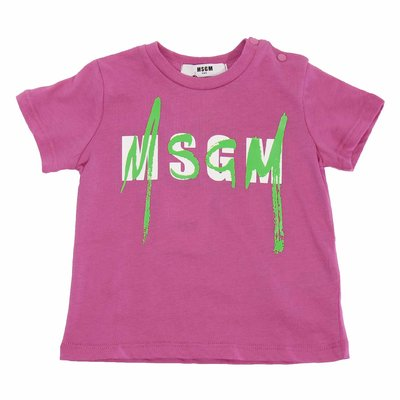 Fuchsia logo cotton jersey t-shirt