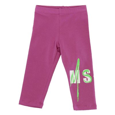 MSGM fuchsia stretch cotton leggings