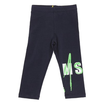 MSGM navy blue stretch cotton leggings