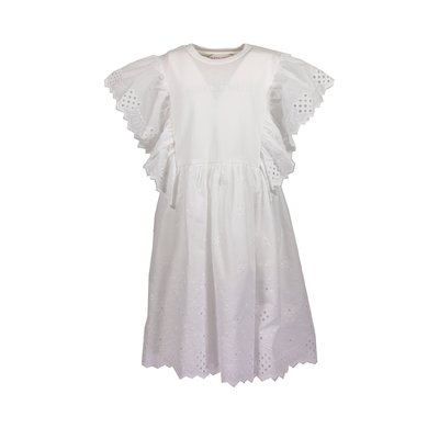 White cotton dress with eyelet lace