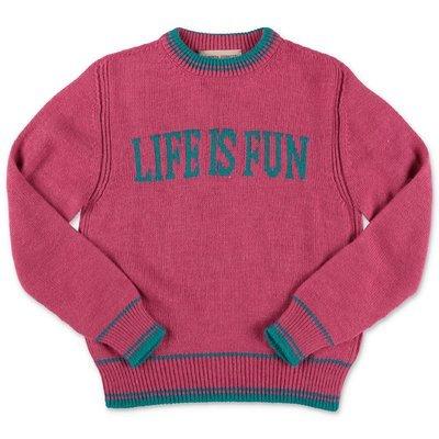 Alberta Ferretti pullover fucsia in maglia