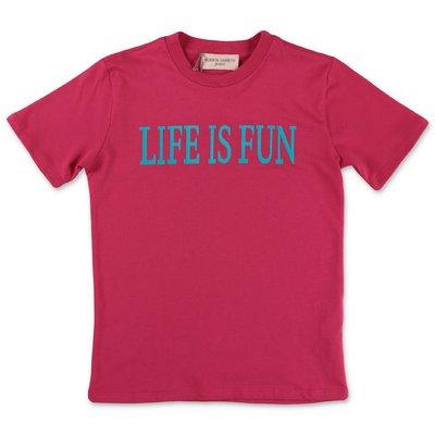 Alberta Ferretti t-shirt fucsia in jersey di cotone