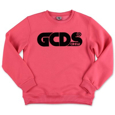 GCDS fluo fuchsia cotton blend sweatshirt